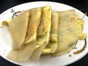 台湾の定番朝ごはんメニュー①:蛋餅(台湾オムレツ)