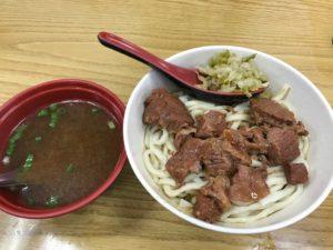 牛肉麺 100元ほど