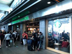 高鐵(新幹線)の台中駅にあるスタバ