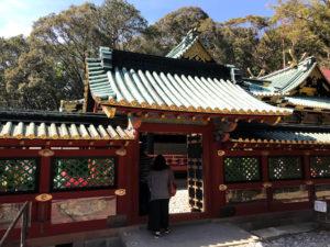 御社殿および本殿の入口