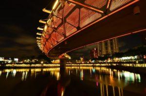愛河クルージングで見られる高雄の夜景