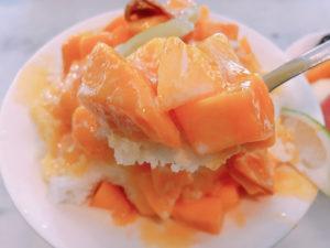 マンゴーミルクかき氷 150元