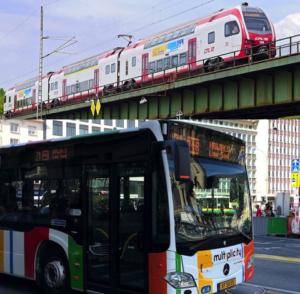 ルクセンブルクの電車とバス