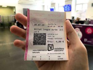 1日乗り放題チケット(4ユーロ)