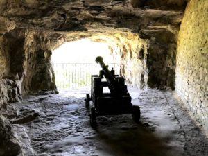 かつての砲台が残っている