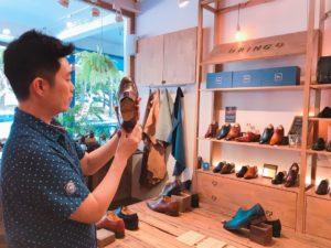 台湾の革靴店「oringo(林果良品)」の店内③