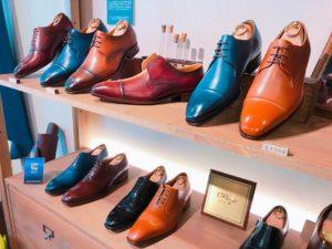 台湾の革靴店「oringo(林果良品)」の店内①