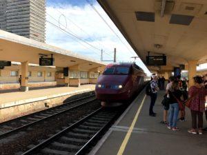 ブリュッセルの駅は広い