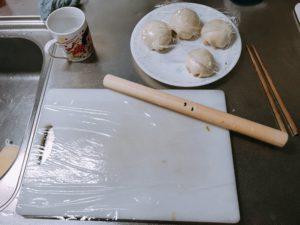 台湾風蔥油餅蛋餅の材料