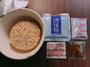 麺と調味料