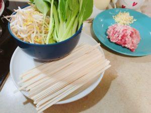 麻醬麵の材料