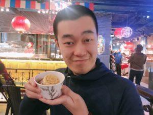 アイスクリームをいただきます
